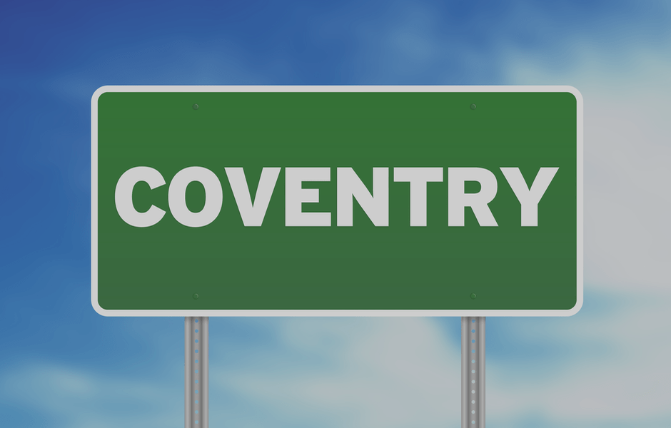 Coventry address sign